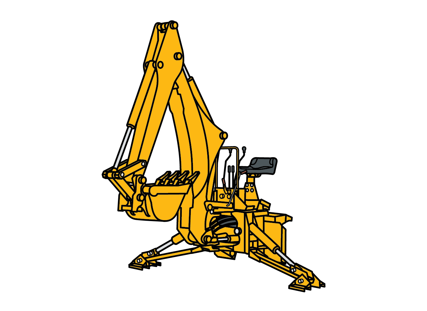 Backhoe illustration