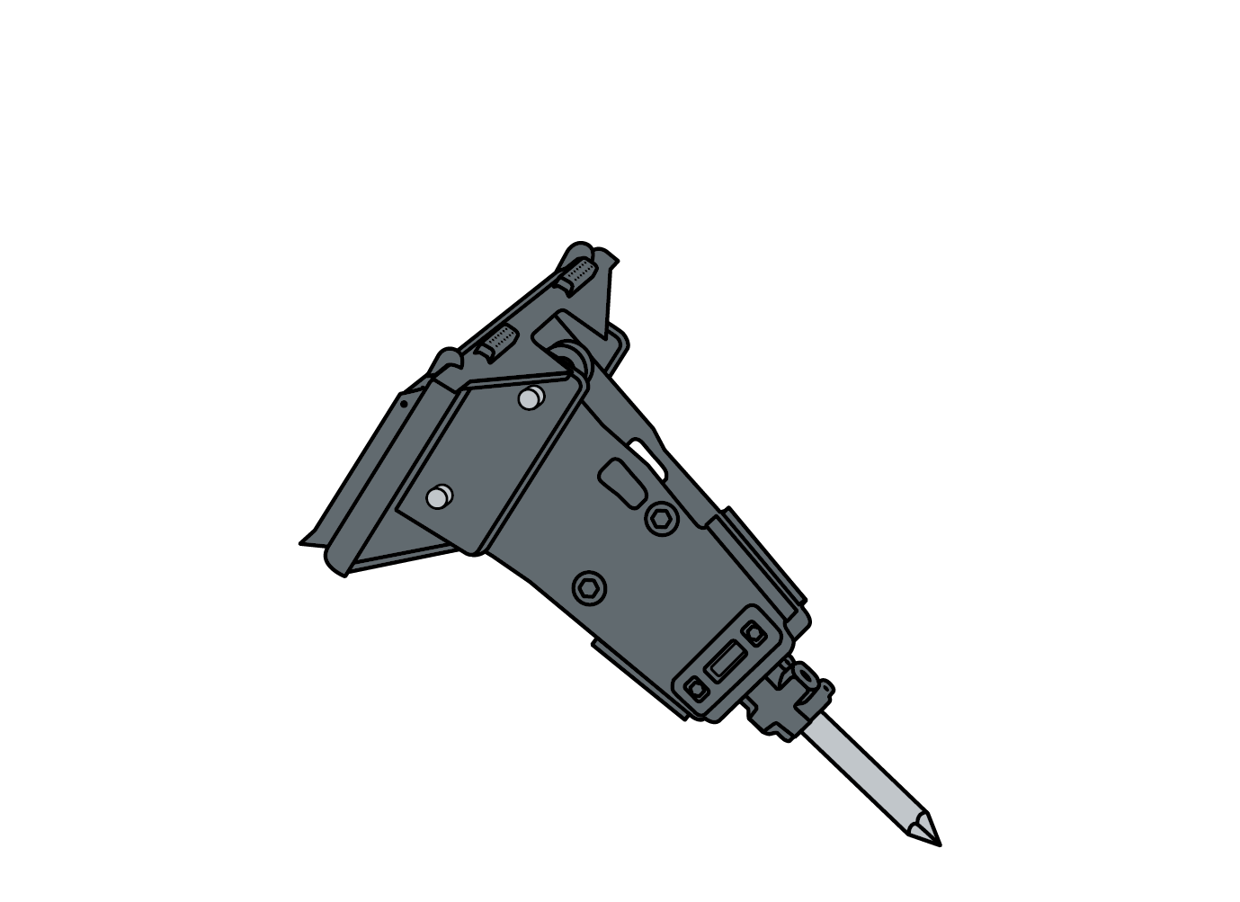 HYDRAULIC HAMMER illustration