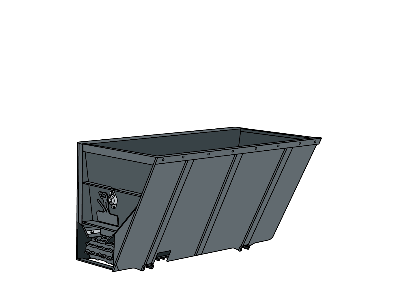 Side-Discharge Bucket illustration